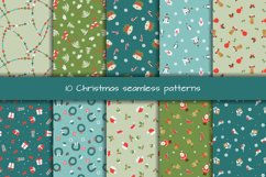 Set of 10 Christmas seamless patterns Product Image 1