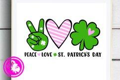 Shamrock svg Peace Love St. Patricks day decor Irish Heart Product Image 1