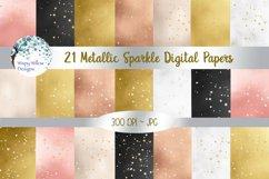 Metallic Sparkle Digital Paper Set Product Image 1