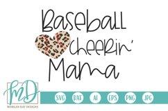 Leopard Baseball Heart - Baseball Cheerin' Mom SVG Product Image 1