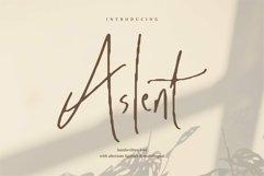 Web Font Aslent - Handwritten Font Product Image 1
