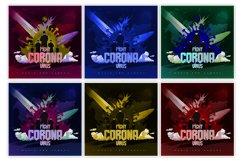 Fight Corona Music Album Cover Artwork Template Product Image 2