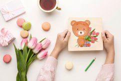 Cute cartoon baby bear clipart bundle. Eps, Png. Product Image 6