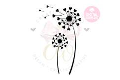 Dandelion svg | Dandelion | Flower svg | Heart Dandelion svg Product Image 1