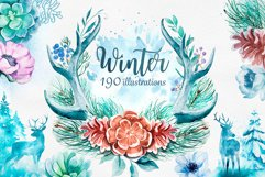 Winter. Watercolor collection. Product Image 1