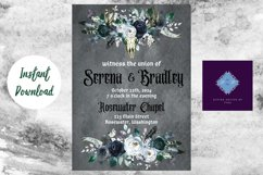 Gothic Dark Wedding Invitation Product Image 2