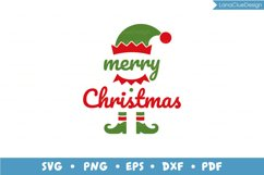 Merry Christmas - Santa and Elf - 2 items, Christmas SVG Product Image 4