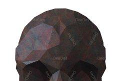 SKULL and Crossbones polygonal clipart. Vector illustration Product Image 3