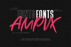 AMPVX SVG Brush Font Free Sans Product Image 2