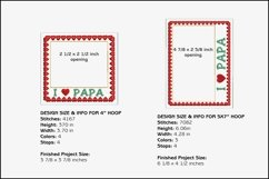 I Love Papa Picture Frames - 4 x 4 and 5 x 7 Hoops Product Image 2