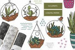 Cactus SVG and Seamless Pattern Product Image 1