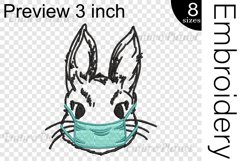 Bunny With Mask - Embroidery Files - 1476e Product Image 2
