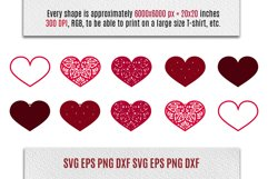 Valentines SVG | Earrings and Heart Shape Product Image 3