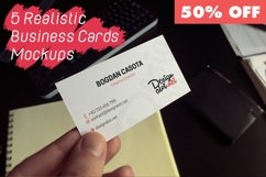 5 Realistic Business Cards Mockups - 50% OFF Product Image 1