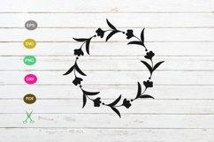 FLORAL FRAME in SVG, Floral wreath, Monogram frame svg file Product Image 1