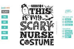This is My Scary Nurse Costume SVG Cut File Product Image 2