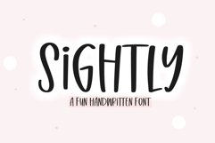 Sightly - A Quirky Handwritten Font Product Image 1