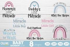 Baby Rainbow SVG Bundle  Baby Boho Rainbow SVG Product Image 2