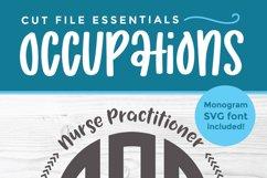 Nurse practitioner monogram svg - an NP svg for crafters Product Image 3