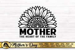 Mother SVG Mothers Day SVG Mom Life SVG Sunflower Heart SVG Product Image 6