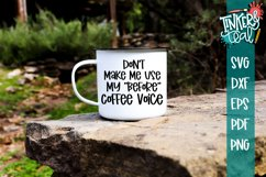 Before Coffee Voice Funny SVG Product Image 1