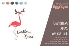 Caribbean Xmas SVG / Flamingo Christmas SVG / Xmas Cut File Product Image 2