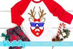Reindeer Face SVG Reindeer Eyes SVG Reindeer Eyelash SVG Product Image 1