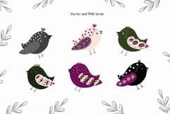 Birds vector collection, Spring Easter clipart, Summer leave Product Image 3