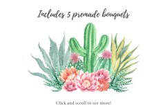 Watercolor Cactus and Succulents Collection Product Image 3