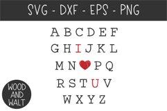 Alphabet I Love You SVG | Valentine's Cut File Product Image 2