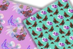 Butterflies Digital Paper.Seamless pattern. Product Image 5