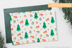 Seamless Christmas pattern with watercolor illustration Product Image 6