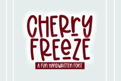 Web Font Cherry Freeze - A Quirky Handwritten Font Product Image 1
