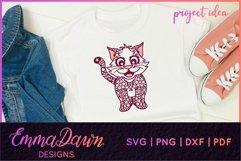 CLEO THE CAT SVG 6 MANDALA / ZENTANGLE DESIGNS Product Image 5