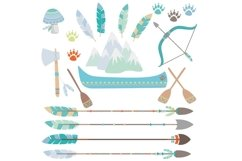 Tribal Animals Clipart Product Image 2