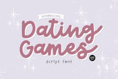 DATING GAMES Romantic Script Product Image 1