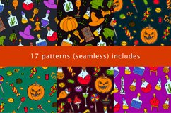 Halloween collection. Patterns, Elements, Posters Product Image 4