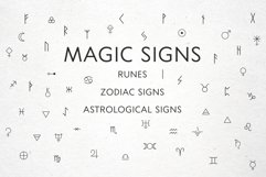 Magic signs, astrological signs, runes in vector, Alchemical Product Image 1