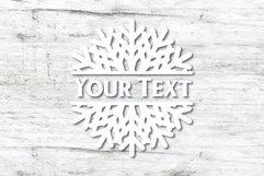Snowflake SVG | Split Monogram SVG Product Image 4