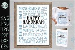 Subway Art Happy Hanukkah SVG Product Image 1
