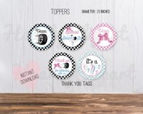 Bows or burnouts, gender reveal printable party Product Image 3