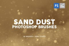 30 Sand Dust Photoshop Stamp Brushes Product Image 1