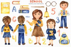 SCHOOL. Watercolor collection. Clipart, cards, patterns Product Image 9