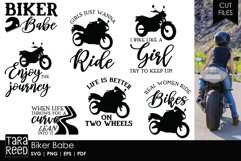 Biker Babe - Motorcycle SVG and Cut Files for Crafters Product Image 1