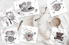 Crochet. Digital cliparts for knitting Svg Png. Girls knits. Product Image 4
