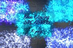 Glowing blue splashes. Product Image 1