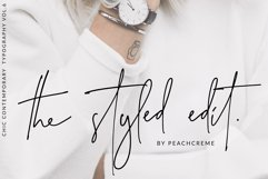 The Styled Edit- Chic Ligature Font Product Image 1