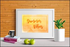 Orange Backgrounds , Sublimation Watercolor Background PNG Product Image 3