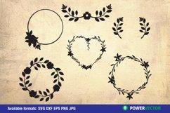 Flowers and Laurel Wreaths SVG Bundle Product Image 5