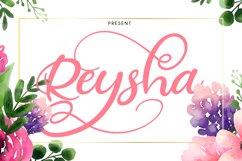 Reysha | Flower Script Font Product Image 1